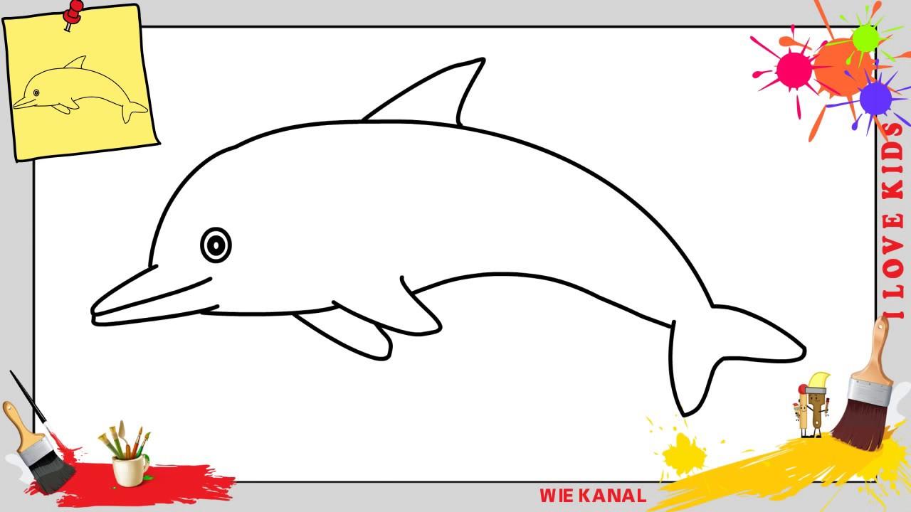 Delfin Zeichnen Schritt Für Schritt Für Anfänger & Kinder - Zeichnen Lernen innen Delfine Zeichnen