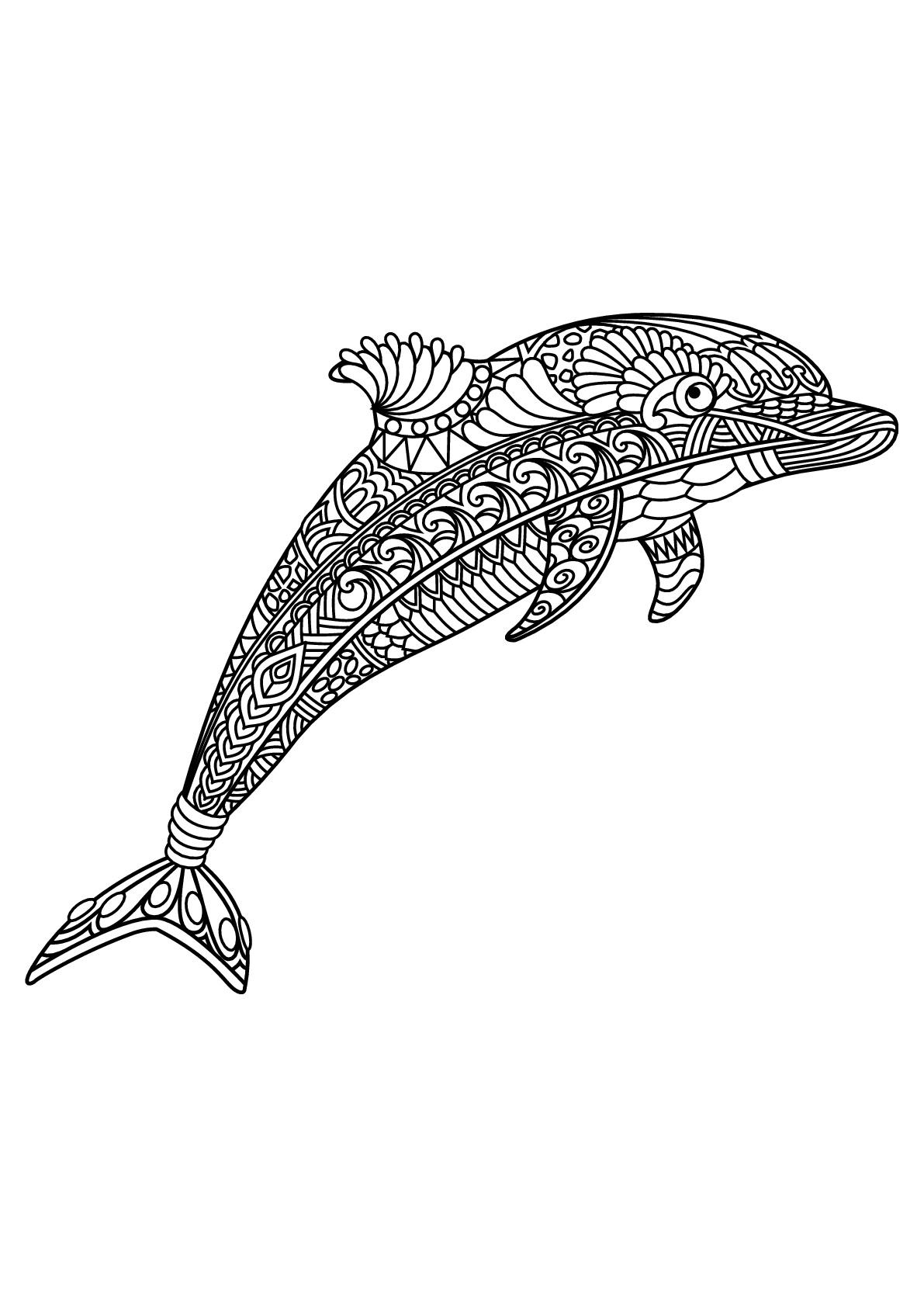 Delfine 48109 - Delfine - Malbuch Fur Erwachsene für Delfin Ausmalbilder Zum Ausdrucken
