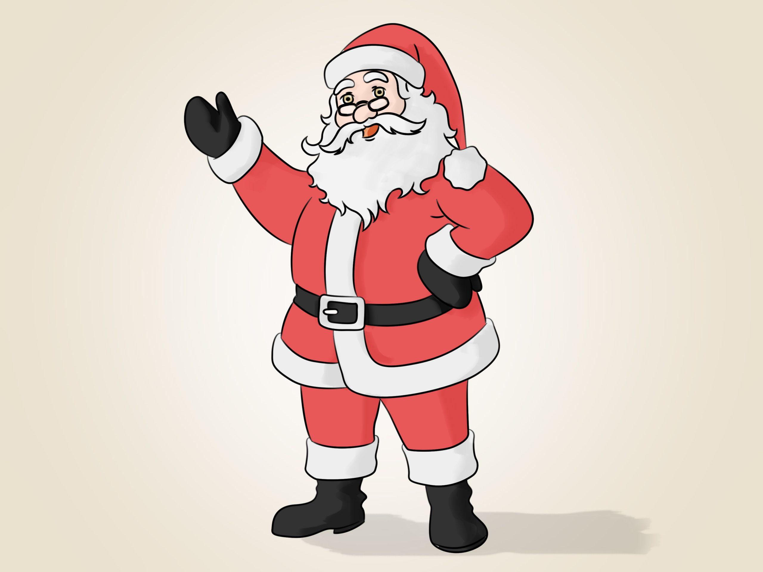 Den Weihnachtsmann Malen: 14 Schritte (Mit Bildern) – Wikihow bei Weihnachtsmann Malen