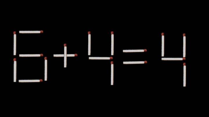 [Denksport] 6+4=4 - Streichholzrätsel - Rätsel - Logik - Mathe innen Streichholzrätsel