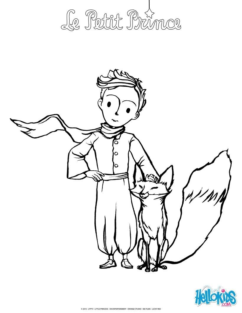 Der Kleine Prinz Und Der Fuchs Zum Ausmalen - De.hellokids über Der Kleine Prinz Bilder Zum Ausmalen