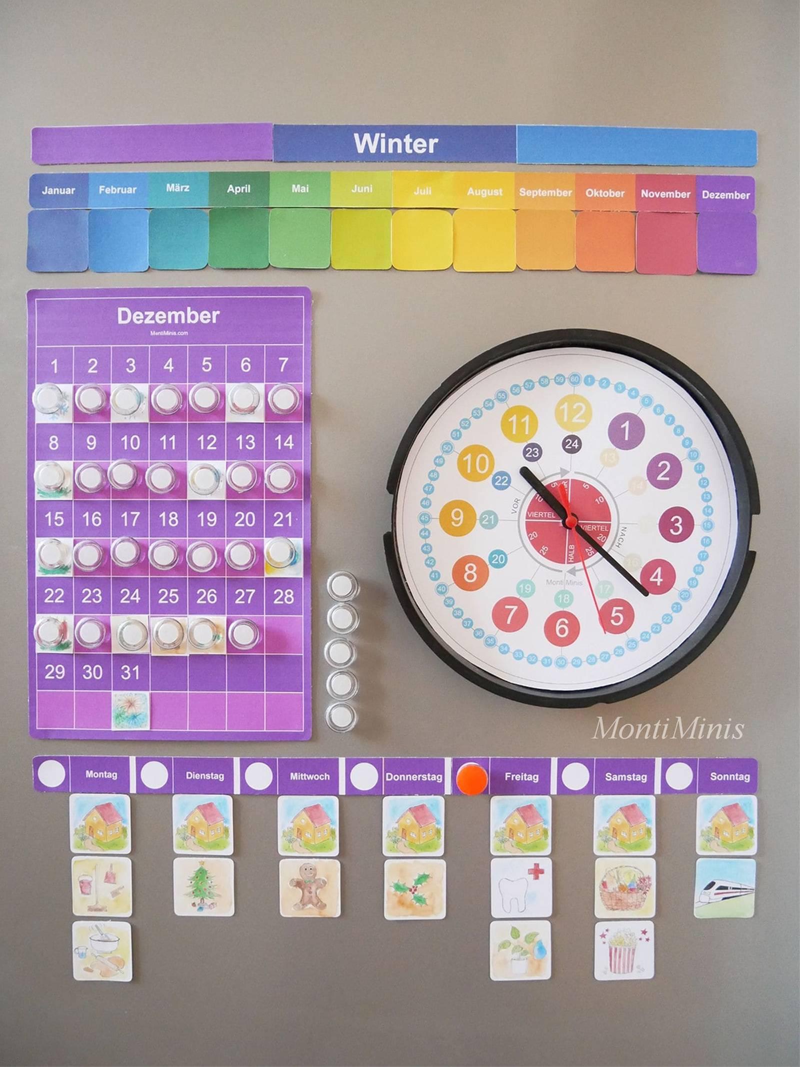 Der Montiminis Kalender 2020, Neue Erweiterungsmodule (Plus für Kalender Kindergarten