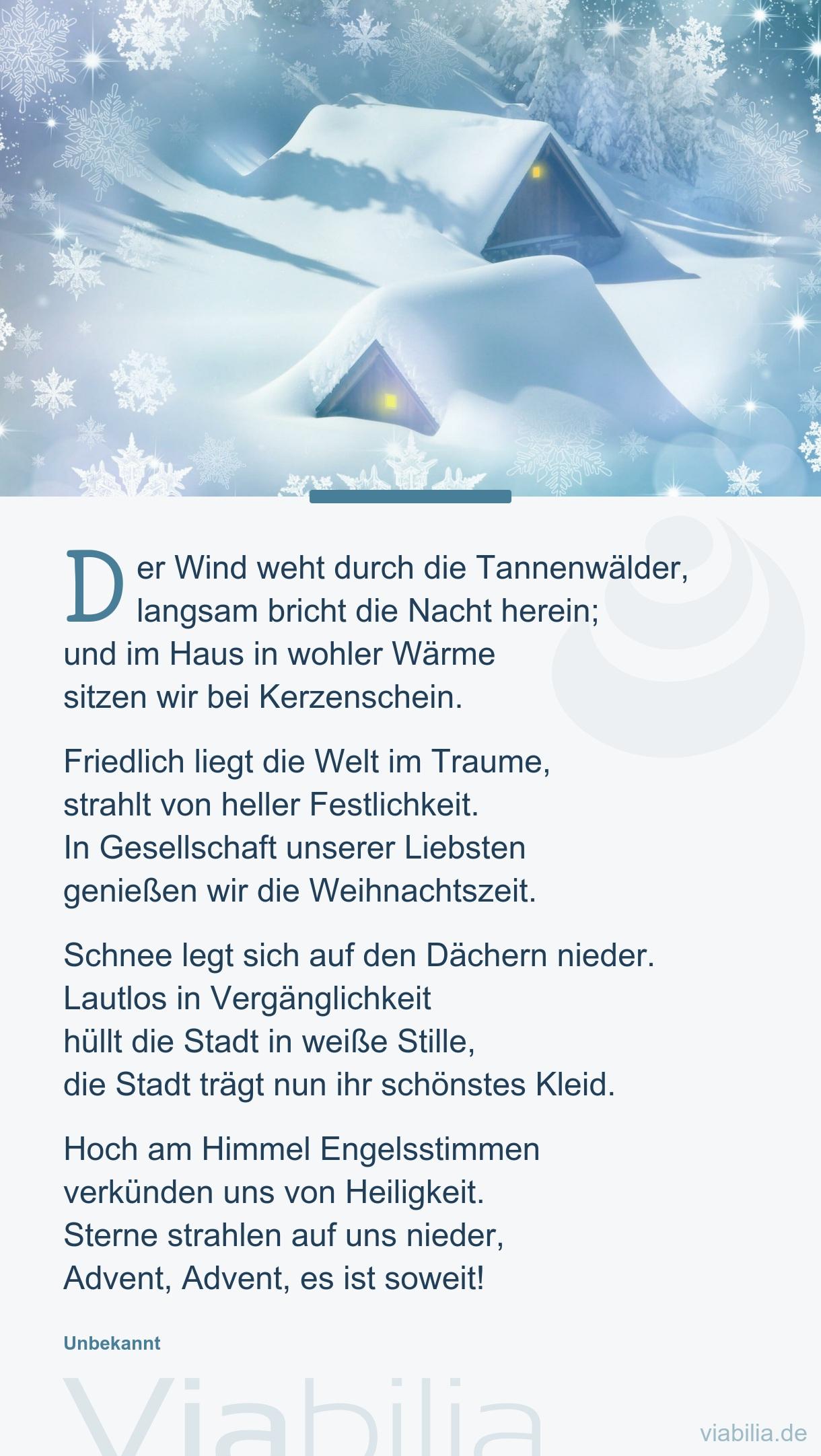 Der Wind Weht Durch Die Tannenwälder, Langsam Bricht bestimmt für Rainer Maria Rilke Weihnachtsgedichte