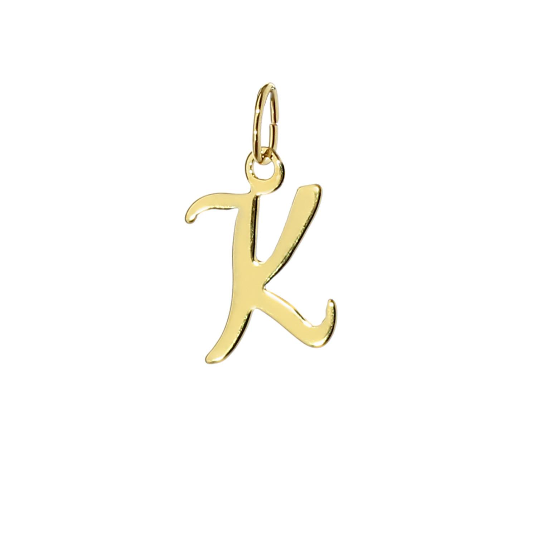 Details Zu Buchstabe K Kettenanhänger 333 Gelbgold Schreibschrift Alphabet  Goldhänger 7815 bestimmt für K Schreibschrift