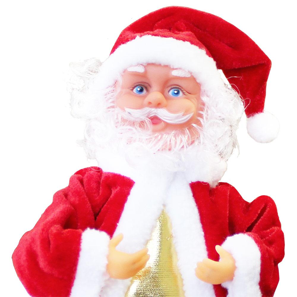 Details Zu Singender Weihnachtsmann Tanzend Weihnachts Mütze Deko  Weihnachten Rentier Baum bei Welche Farbe Hatte Das Gewand Des Weihnachtsmanns Ursprünglich