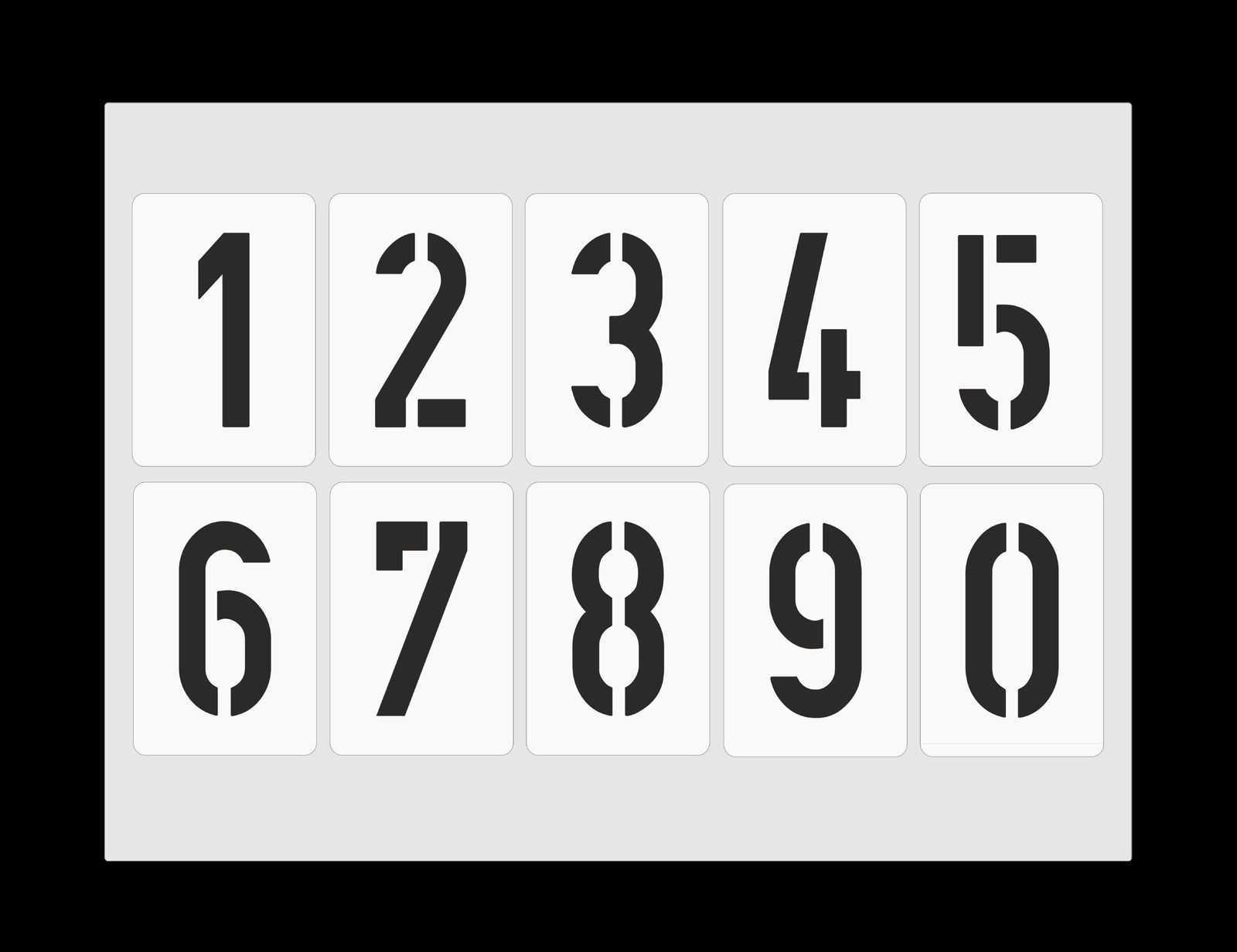 Details Zu Zahlenschablone Nr. 35 ○ Einzelne Zahlen 10Cm ganzes Buchstaben Schablone Zum Ausdrucken