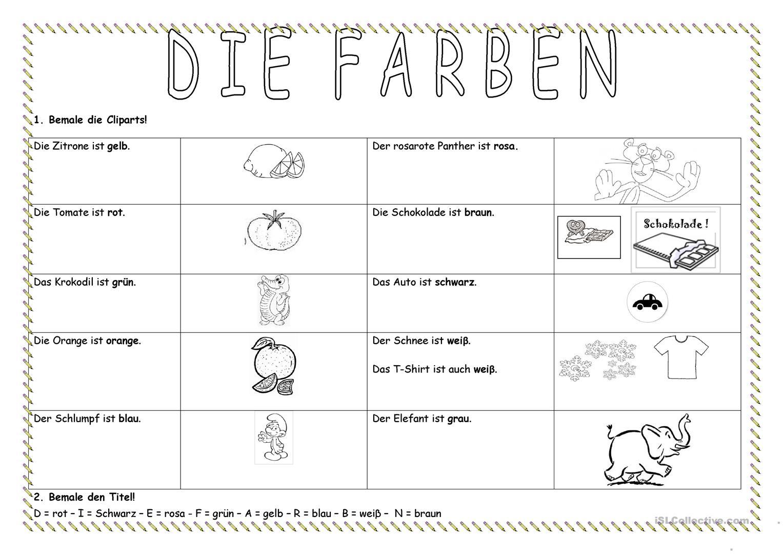 Deutsch Daf Farben Arbeitsblätter - Beliebteste Ab (204 Results) verwandt mit Arbeitsblatt Farben