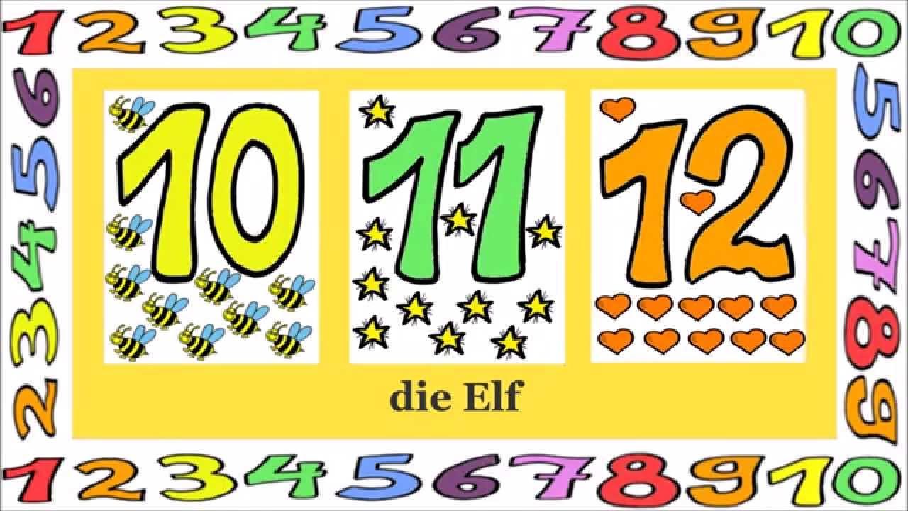 Deutsch Lernen: Zahlen 1 - 12 (Spiel - Game - Jeu De Kim) für Zahlen Lernen Spiel