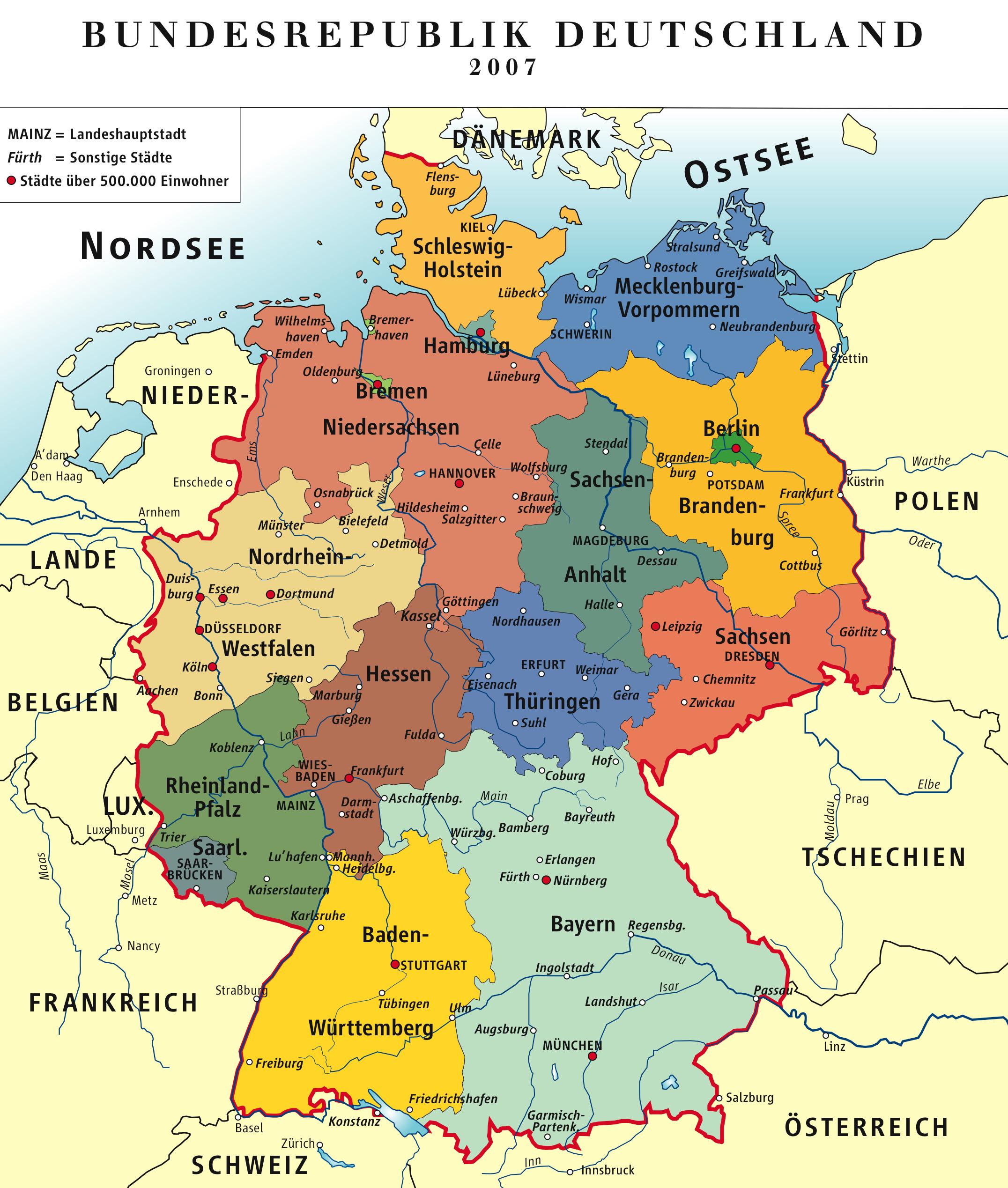 Deutsch – Levinavandenberg bestimmt für Welche Länder Grenzen An Deutschland