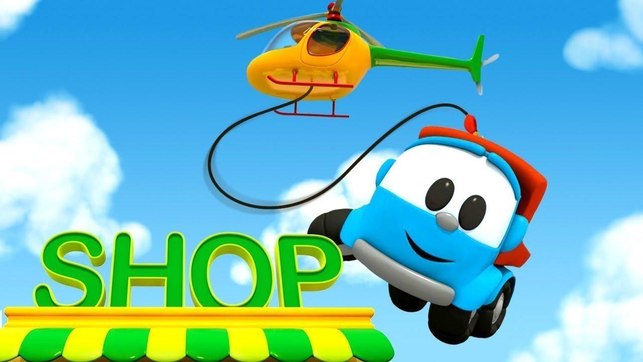 Deutscher Cartoon Für Kinder - Leo Der Lastwagen Baut Einen Hubschrauber verwandt mit Hubschrauber Für Kinder