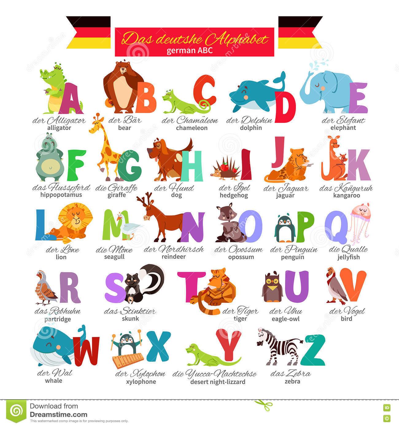 Deutsches Abc Für Vorschulbildung Vektor Abbildung bestimmt für Abc Alphabet Deutsch