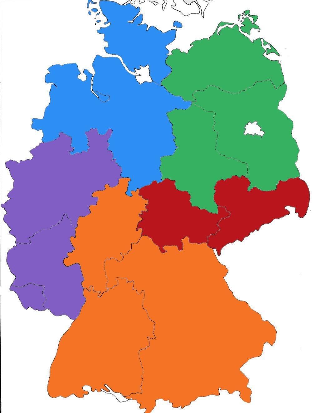 Deutschland Besteht Eigentlich Aus Fünf Völlig ganzes Deutschlandkarte Mit Bundesländern Und Städten