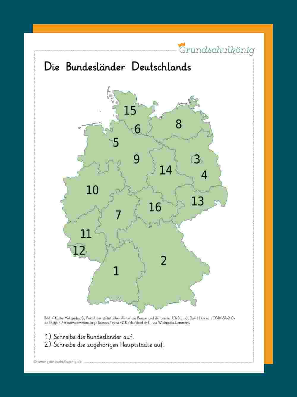 Deutschland über Deutschlandkarte Bundesländer Blanko