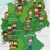 Deutschlandkarte | Der Weg in Deutschlandkarte Mit Bundesländern Und Städten