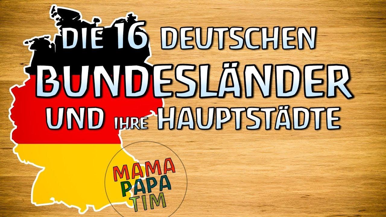 Die 16 Deutschen Bundesländer Und Ihre Hauptstädte Lernen Für Kinder  Tutorial (Deutsch) bei Landeshauptstädte Deutschland Liste