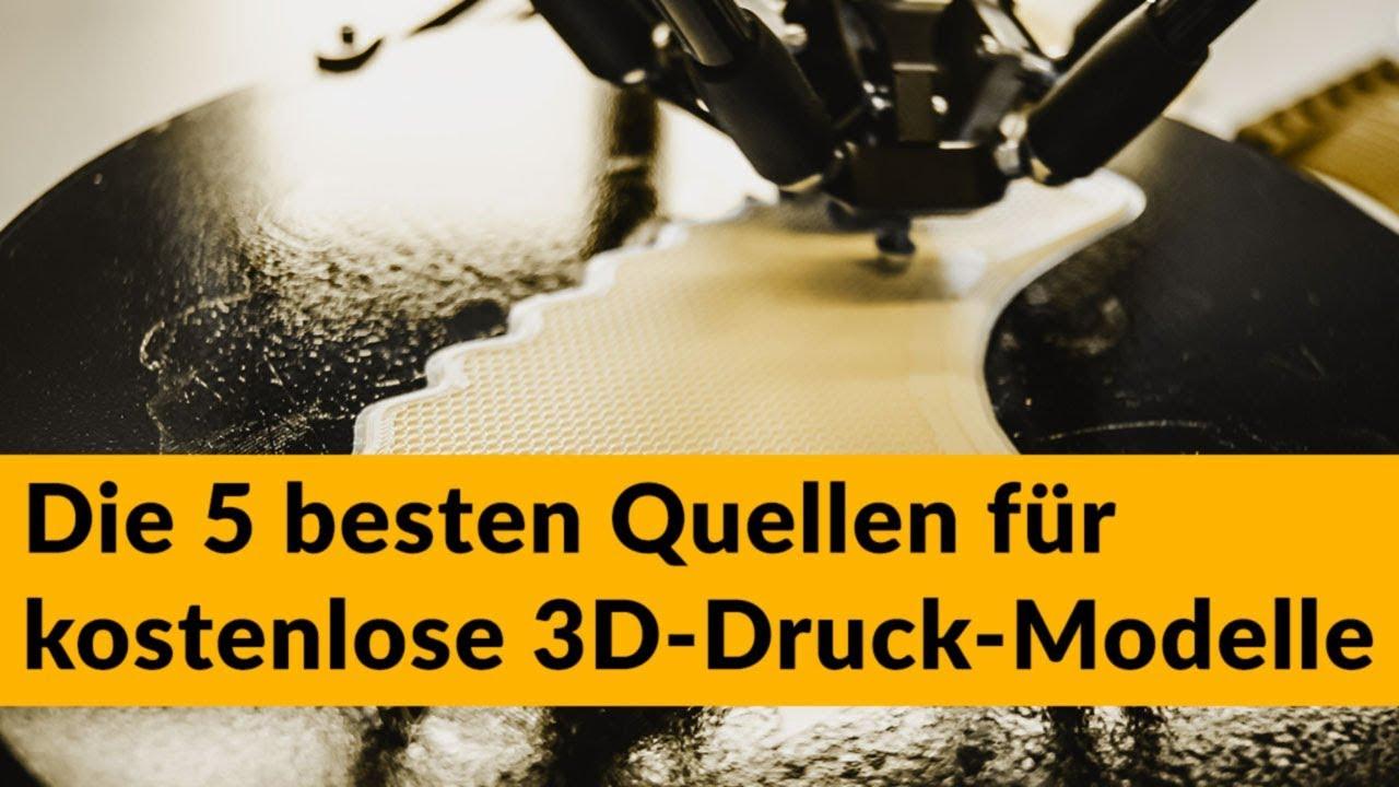 Die 5 Besten Quellen Für Kostenlose 3D-Druck-Modelle 2020 über 3D Motive Zum Ausdrucken