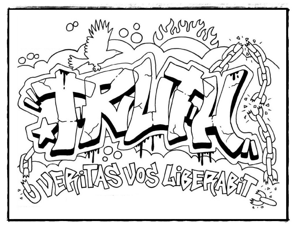 ausmalbilder graffiti  kinderbilderdownload