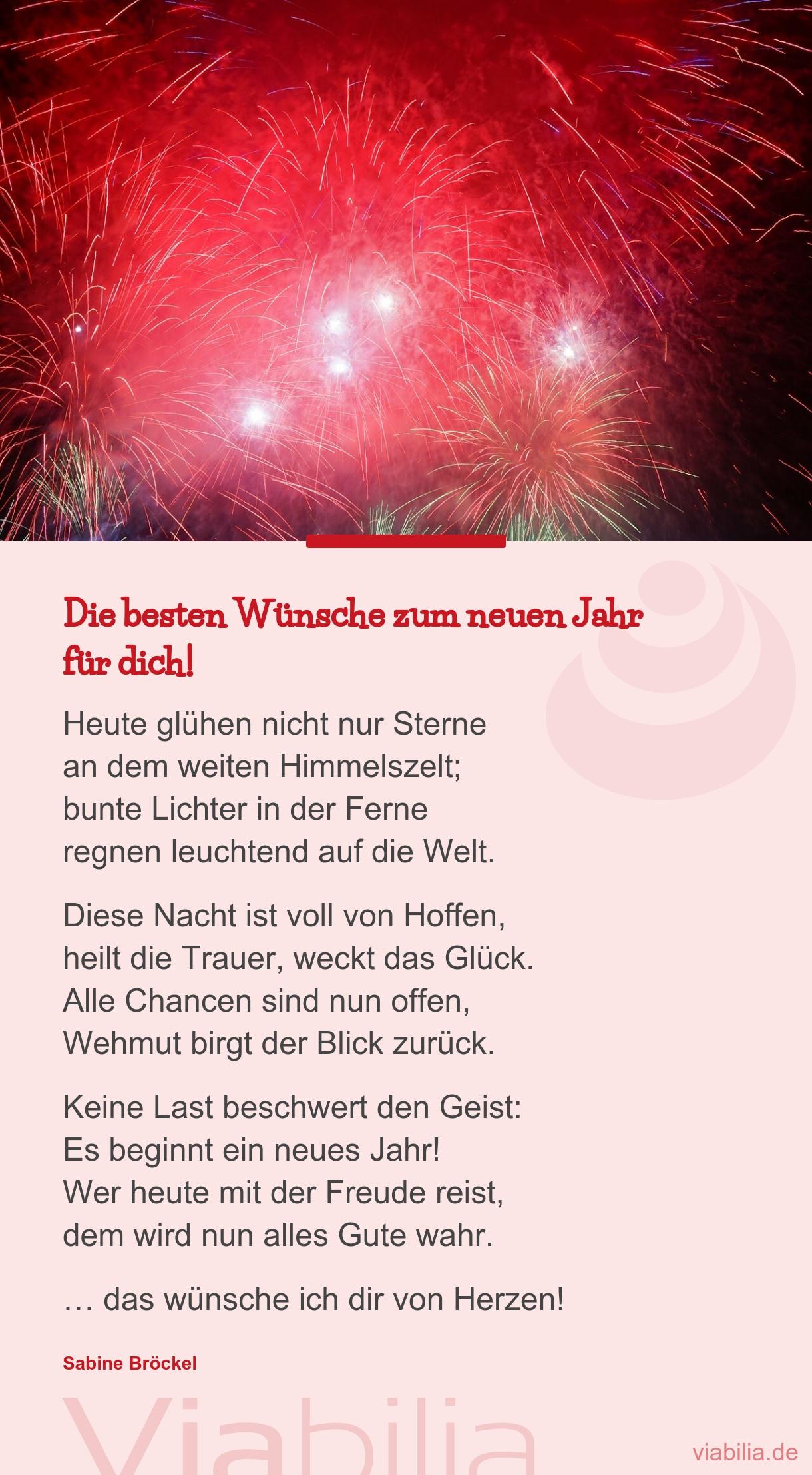 Die Besten Wünsche Zum Neuen Jahr - Neujahrswunsch ganzes Neujahrsgedicht Kinder