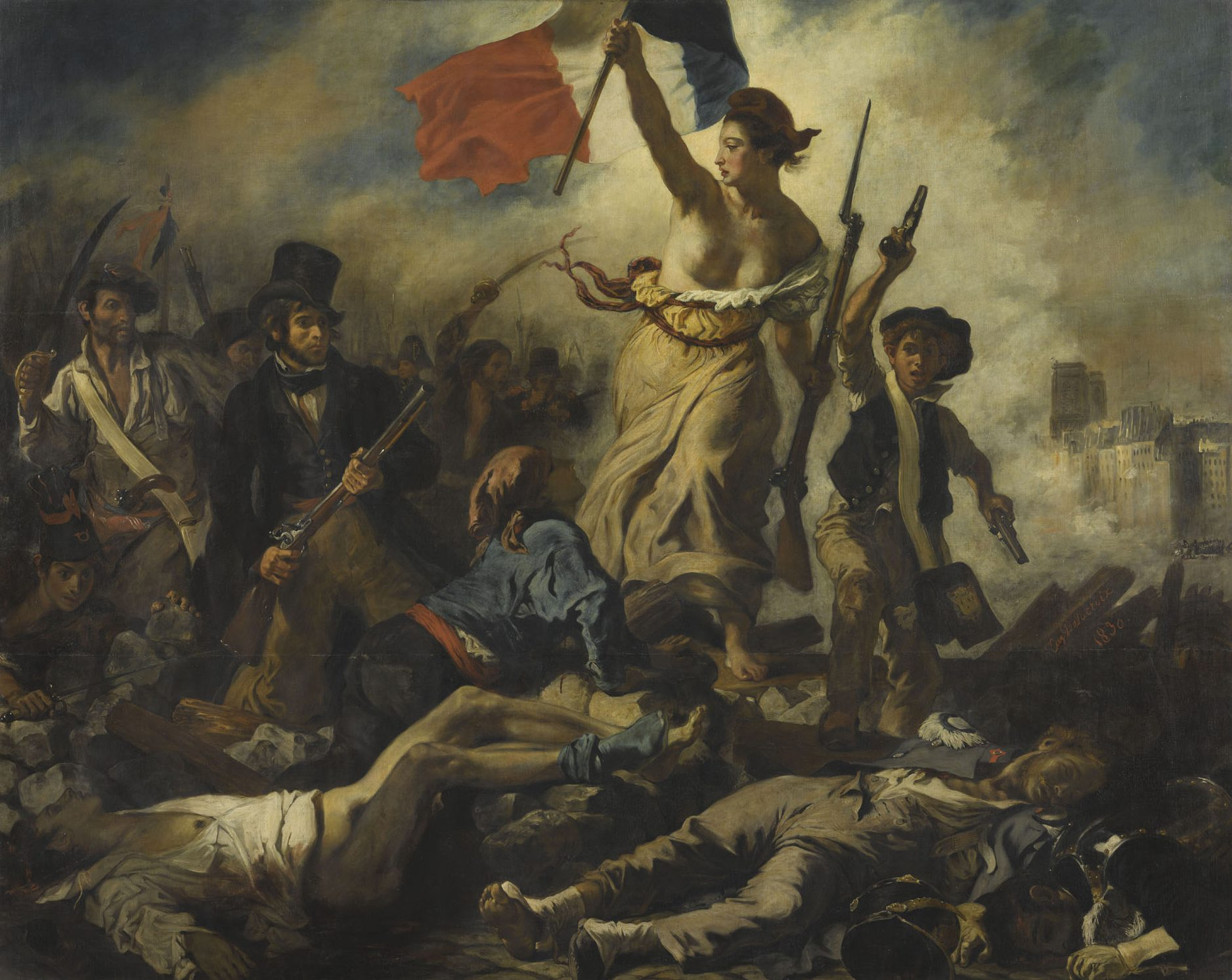 Die Freiheit Führt Das Volk – Eugène Delacroix   French Arts über Delacroix Die Freiheit Führt Das Volk