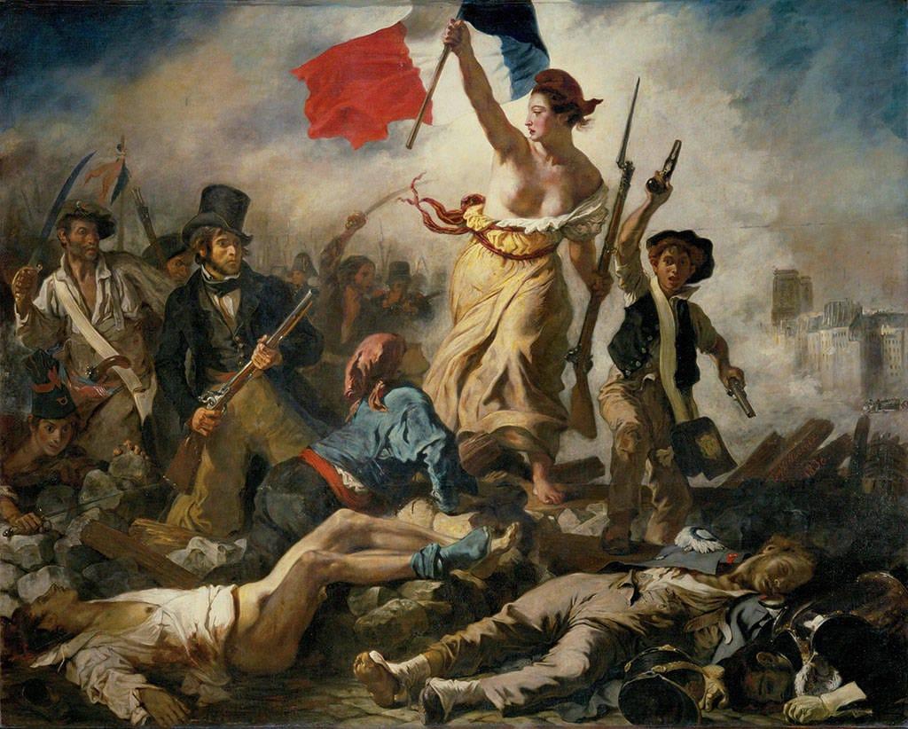 Die Freiheit Führt Das Volk Im Louvre: Eugène Delacroix für Delacroix Die Freiheit Führt Das Volk