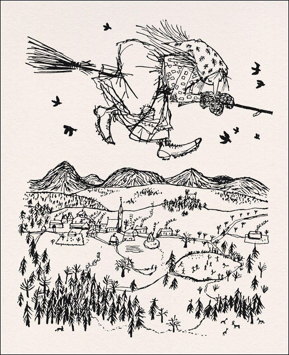 Die Kleine Hexe' V. Otfried Preußler (1957); Illust.v in Die Kleine Hexe Ausmalbilder
