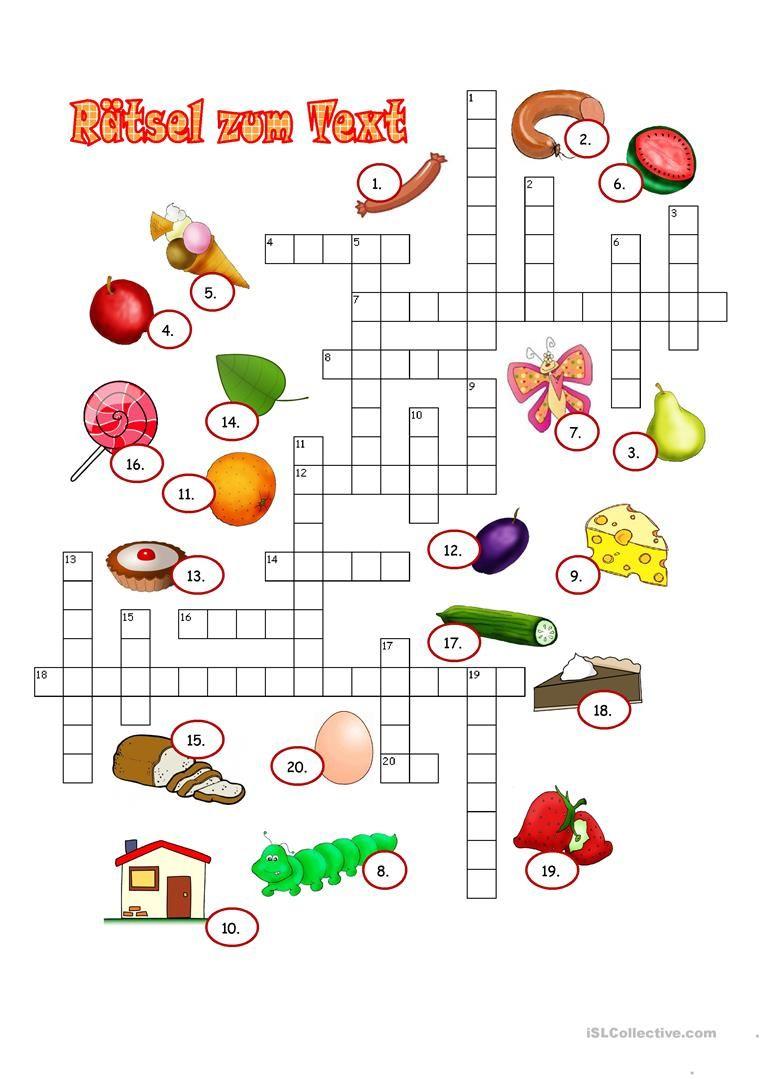 Die Kleine Raupe Nimmersatt | Die Kleine Raupe Nimmersatt bei Rätsel Lösen Kreuzworträtsel