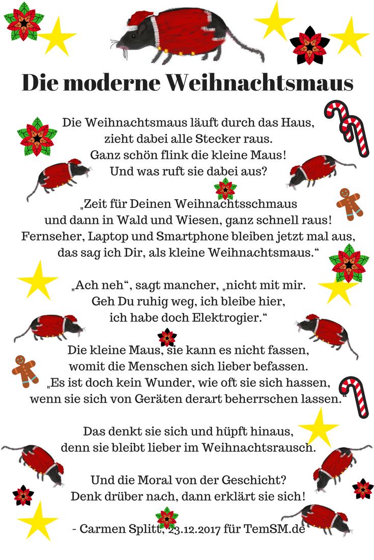 Die Moderne Weihnachtsmaus | Weihnachtsgedichte, Gedicht bestimmt für Lustige Weihnachtsgedichte Kurze Reime