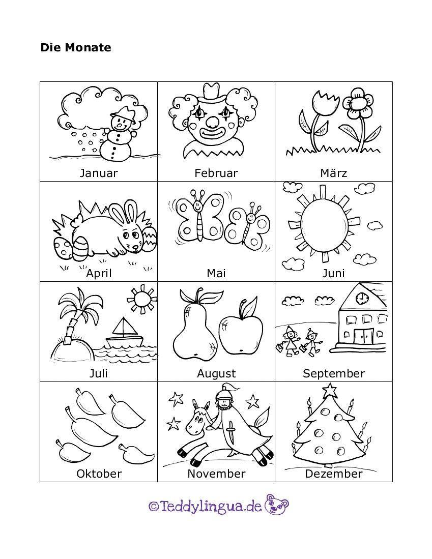 Die Monate … (Mit Bildern)   Indererziehung, Vorschulideen ganzes Jahreszeiten Bilder Für Kindergarten
