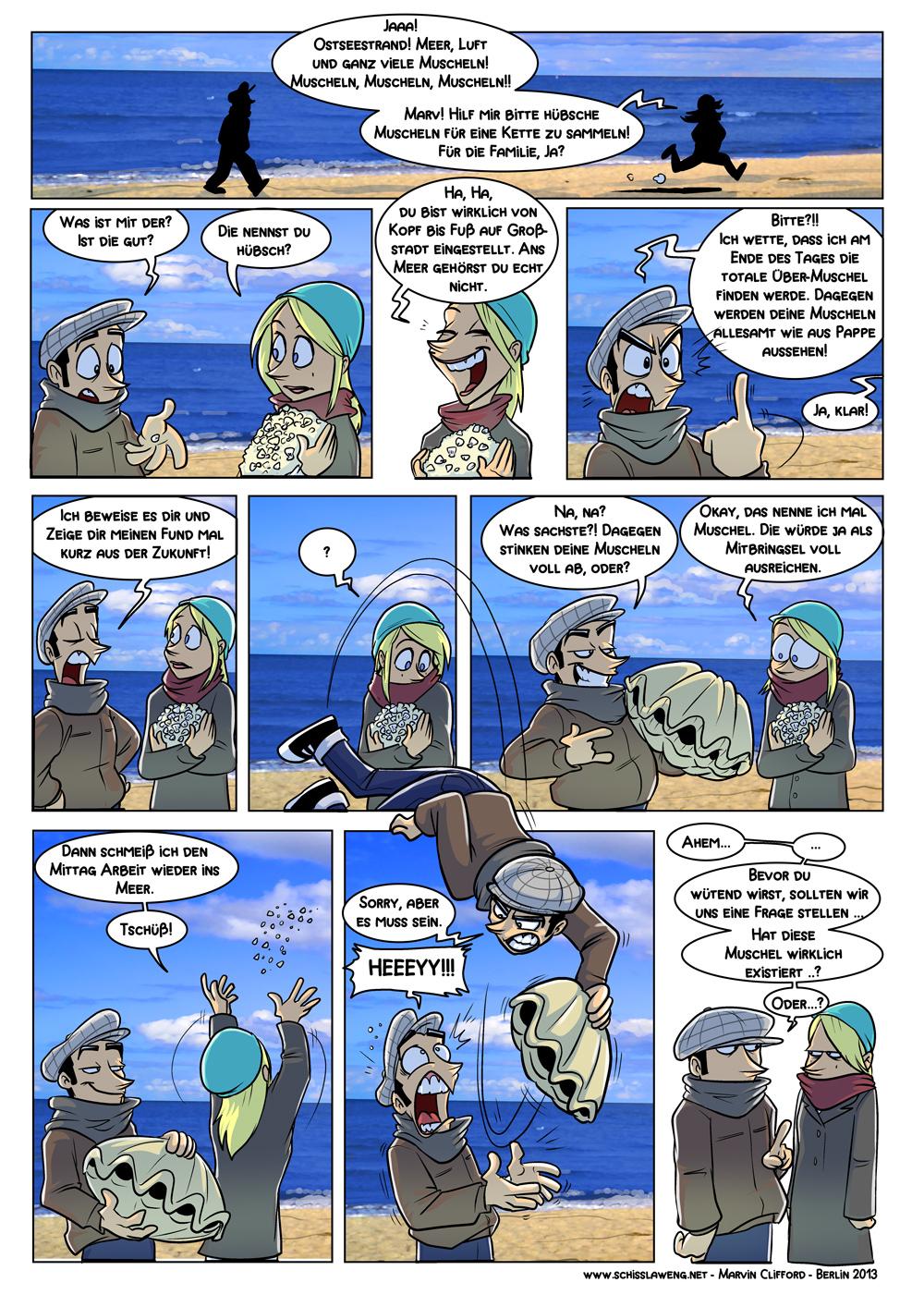 Die Muschel - Marv Comics ganzes Comic Muschel
