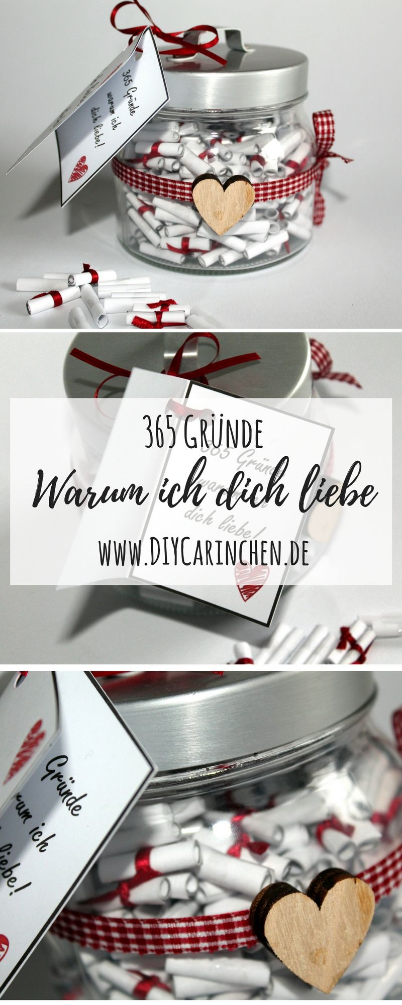 Die Perfekte Geschenkidee: Diy 365 Gründe Warum Ich Dich in Geschenke Zum Jahrestag Selber Machen