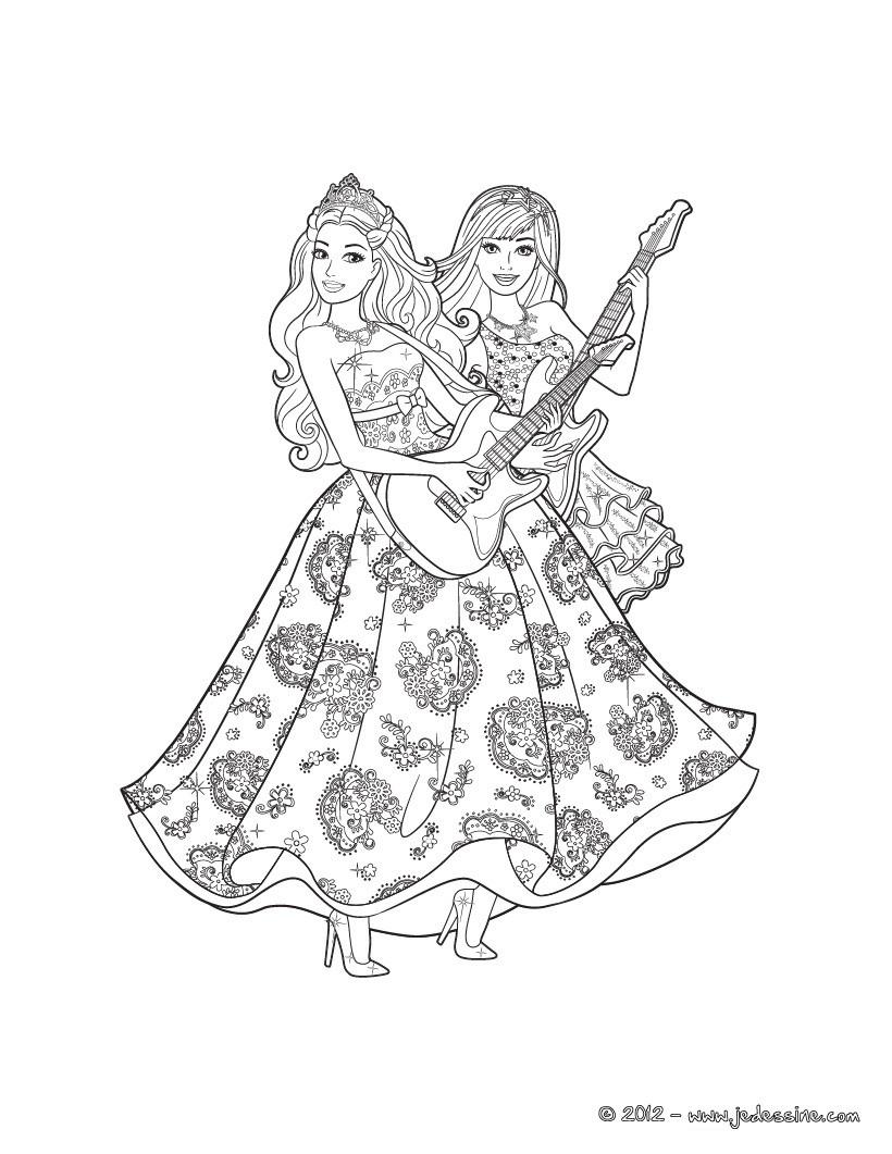 Die Prinzessin Und Der Popstar Druck Zum Ausmalen - De über Ausmalbilder Barbie Und Der Popstar