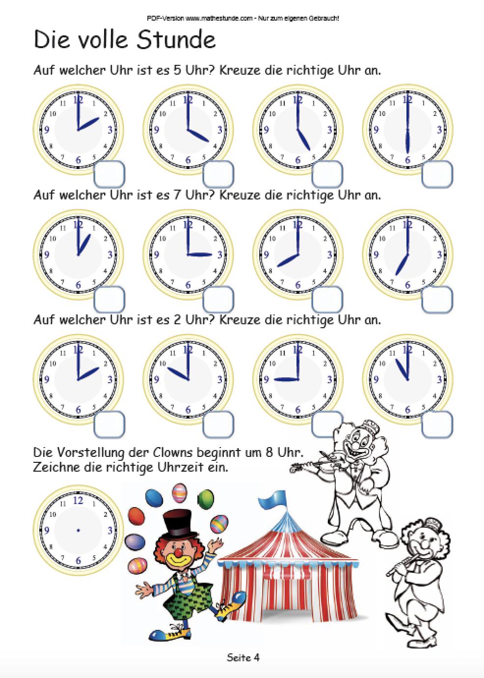 Die Uhr Lernen: Die Uhrzeit Lernen Arbeitsblatt Klasse 2 ganzes Uhrzeit Lernen 2 Klasse