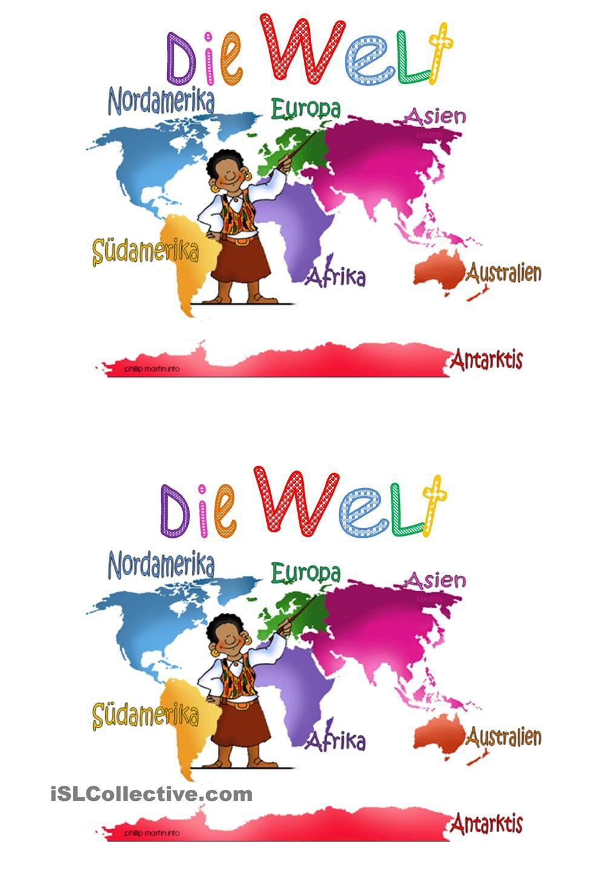 Die Welt Und Die Kontinente | Kinder Schule, Grundschule mit Kontinente Grundschule