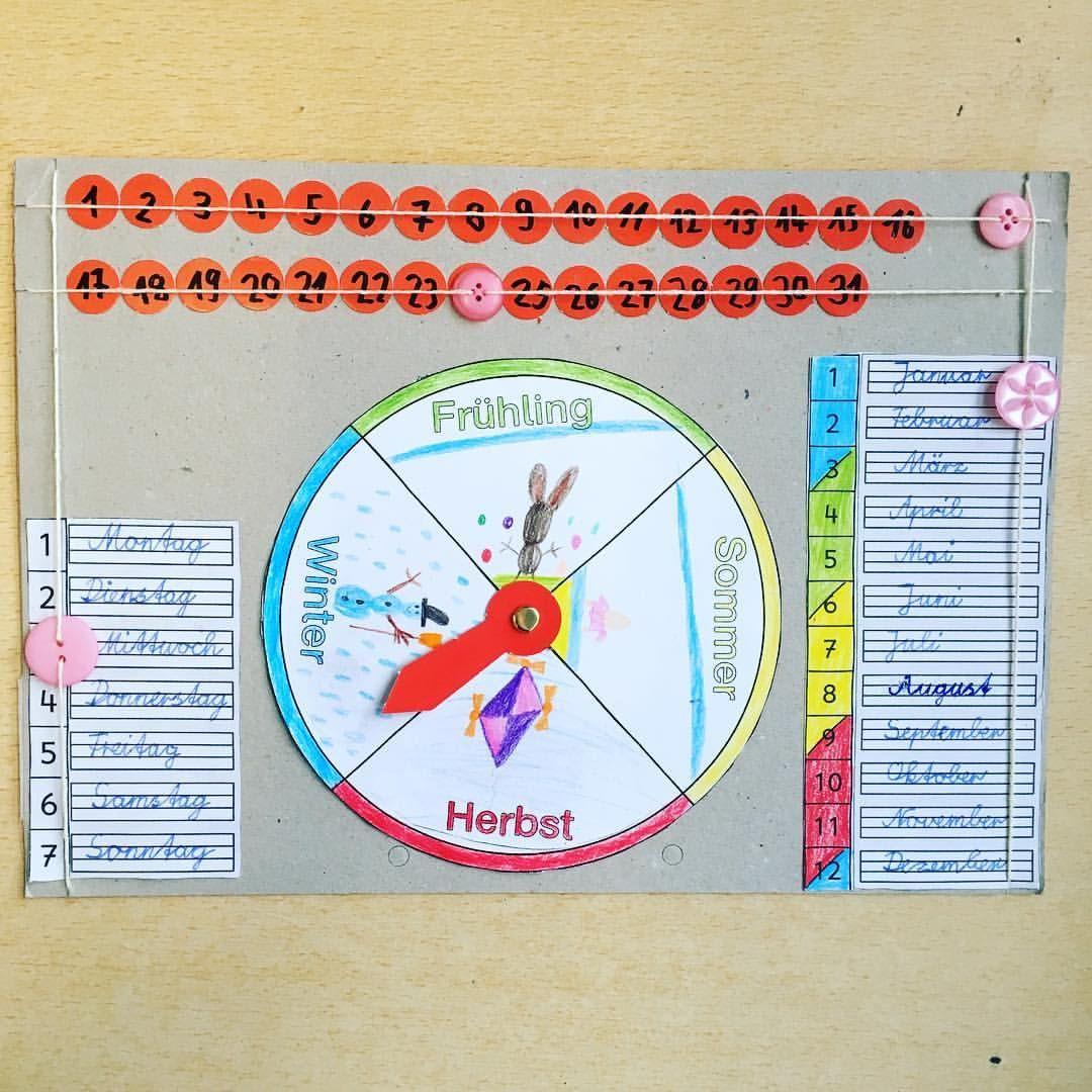 Die Zweitklässler Haben Ganz Einfache Kalender Gebastelt. Am ganzes Kalender Kindergarten