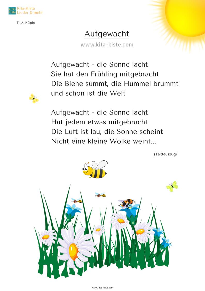 Dieses Kleine Frühlings-Gedicht Ist Auch Ein Lied Für #kita innen Frühlingsgedichte Für Kindergartenkinder