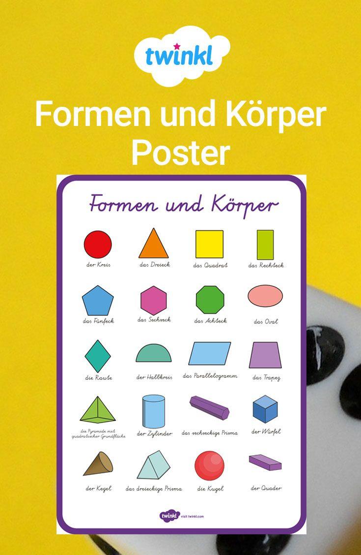 Dieses Tolle Poster Gibt Ihren Schülern Einen Überblick Über mit Mathematische Formen