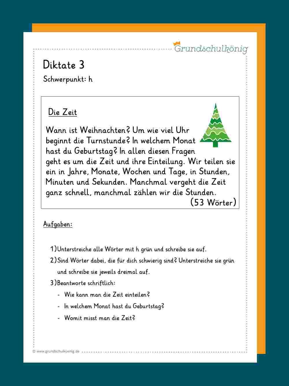 Diktate ganzes Text Groß Und Kleinschreibung 3 Klasse