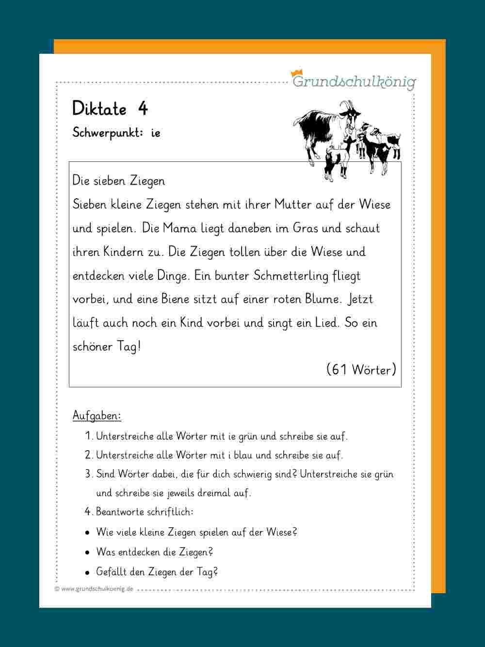 Diktate innen Text Groß Und Kleinschreibung 3 Klasse