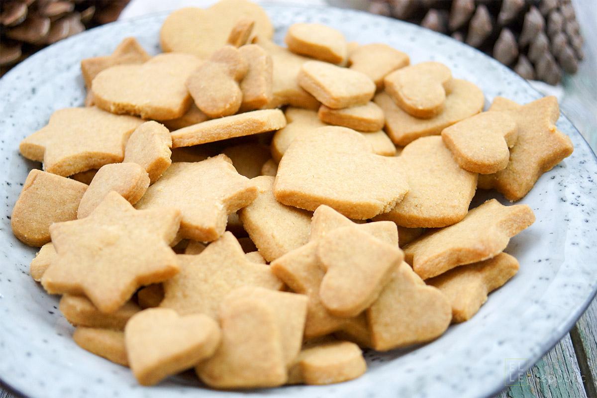 Dinkel-Butterkekse Mit Vollrohrzucker innen Butterplätzchen Rezept Einfach Und Schnell