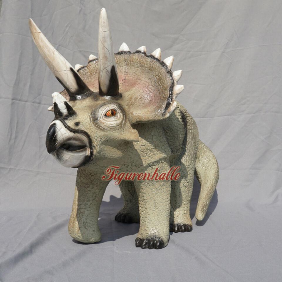 Dino Dinosaurier Triceratops Dreihorn Lebensechte Optik Figur in Dreihorn Dinosaurier