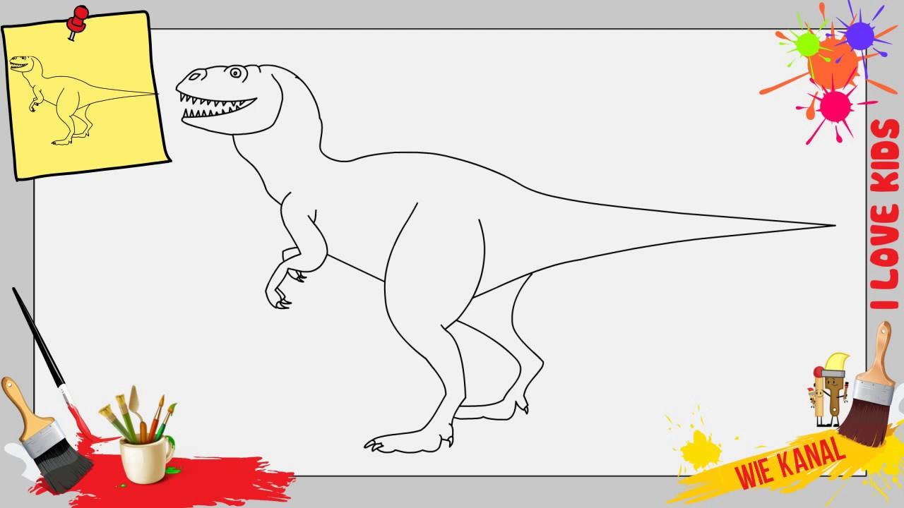Dinosaur Zeichnen Schritt Für Schritt Für Anfänger & Kinder - Zeichnen  Lernen innen Dino Zeichnen