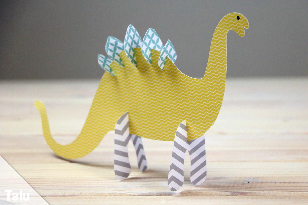 Dinosaurier Basteln Aus Papier & Pappe | Anleitung Für für Bastelvorlagen Dinosaurier