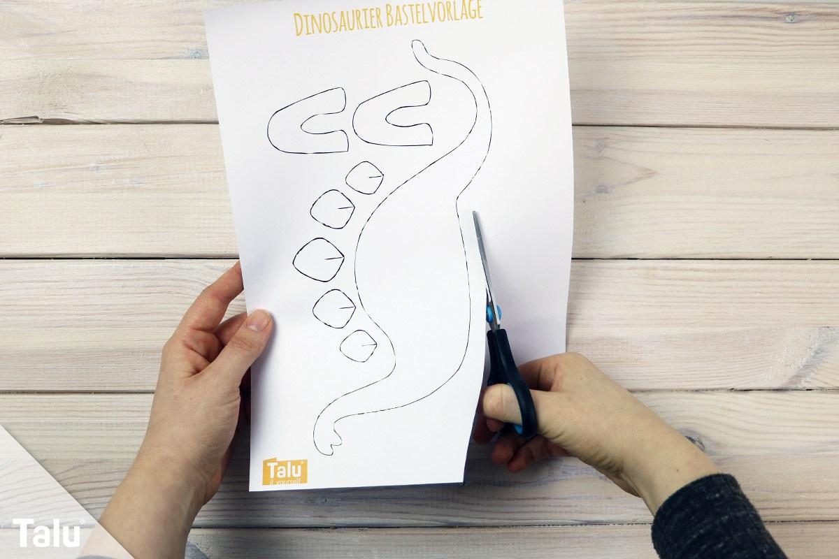Dinosaurier Basteln Aus Papier & Pappe | Anleitung Für ganzes Bastelvorlage Dinosaurier