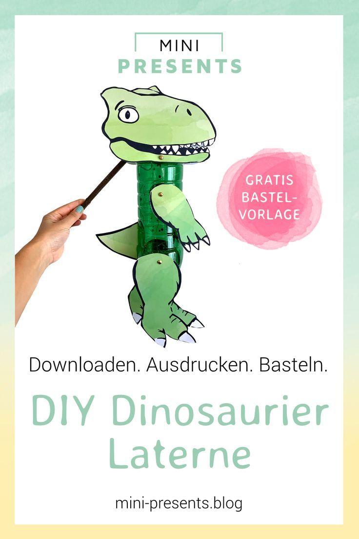 Dinosaurier Laterne Mit Kindern Basteln | Diy For Kids, Fun für Bastelvorlage Dinosaurier