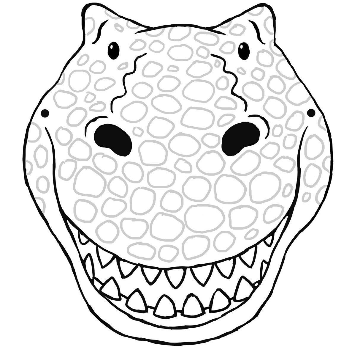 Dinosaurier Masken Vorlagen mit Masken Vorlagen Zum Ausdrucken Kostenlos