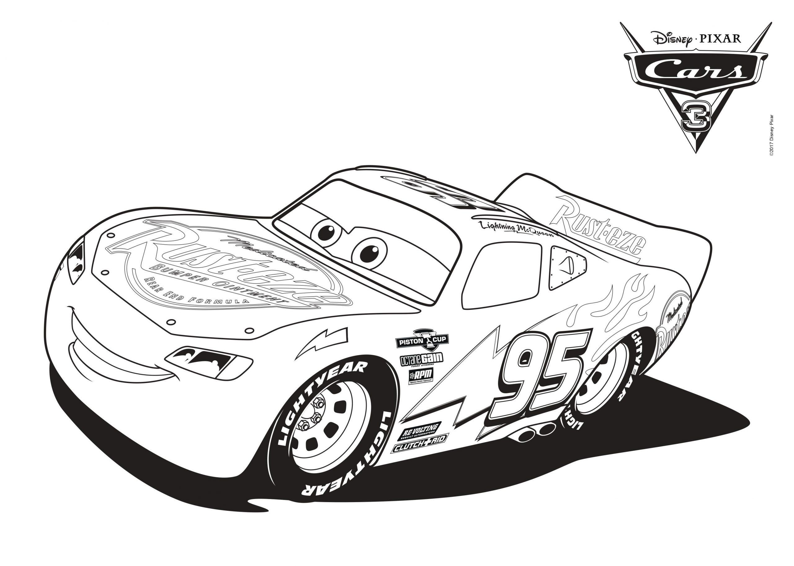 Disney Cars Malvorlagen | Mytoys-Blog in Bastelvorlage Rennauto