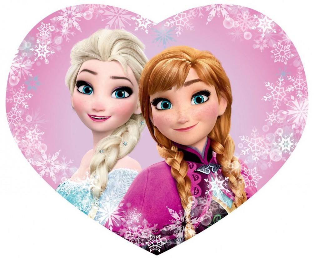 Disney Frozen - Eiskönigin Anna Und Elsa Kinder Deko Herz mit Anna Und Elsa Bilder