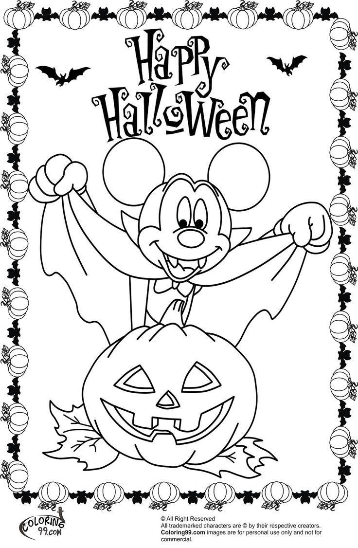 Disney   Malvorlagen Halloween, Kürbis Malvorlage, Halloween verwandt mit Ausmalbilder Halloween