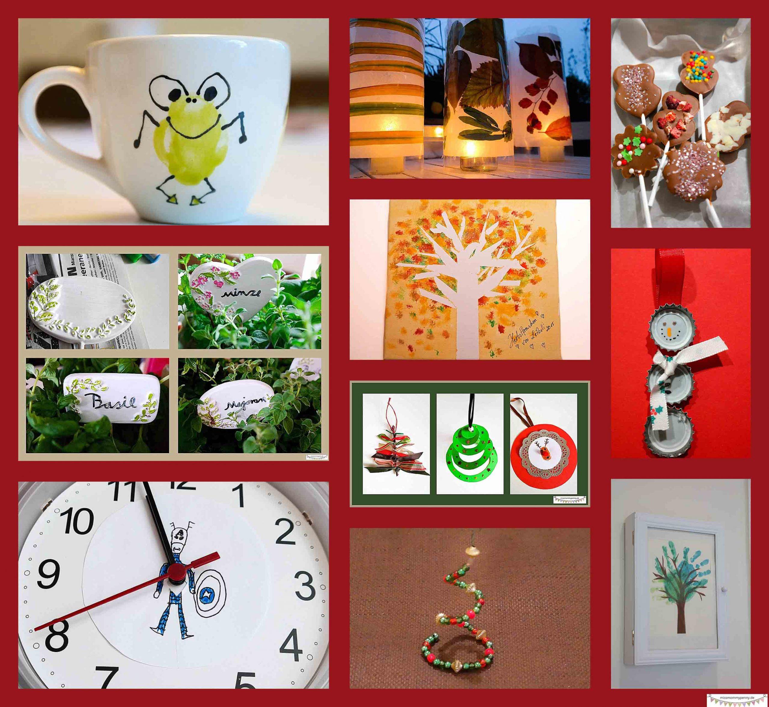 Diy Bastelgeschenke Aus Kinderhand - Für Oma, Opa & Co verwandt mit Selbstgebastelte Geschenke Von Kindern
