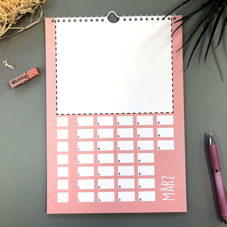 Diy Bastelkalender I Din A4 (Mit Bildern) | Bastelkalender ganzes Immerwährender Kalender Selbst Gestalten